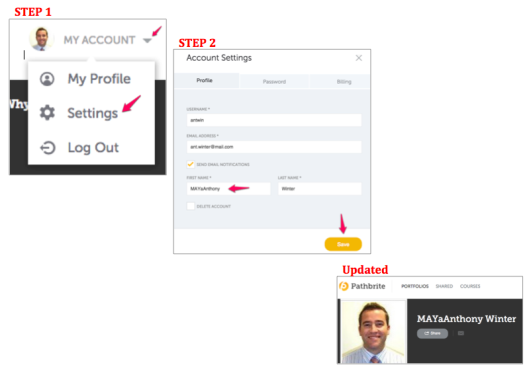 FAQ- How do I update my account details in PB